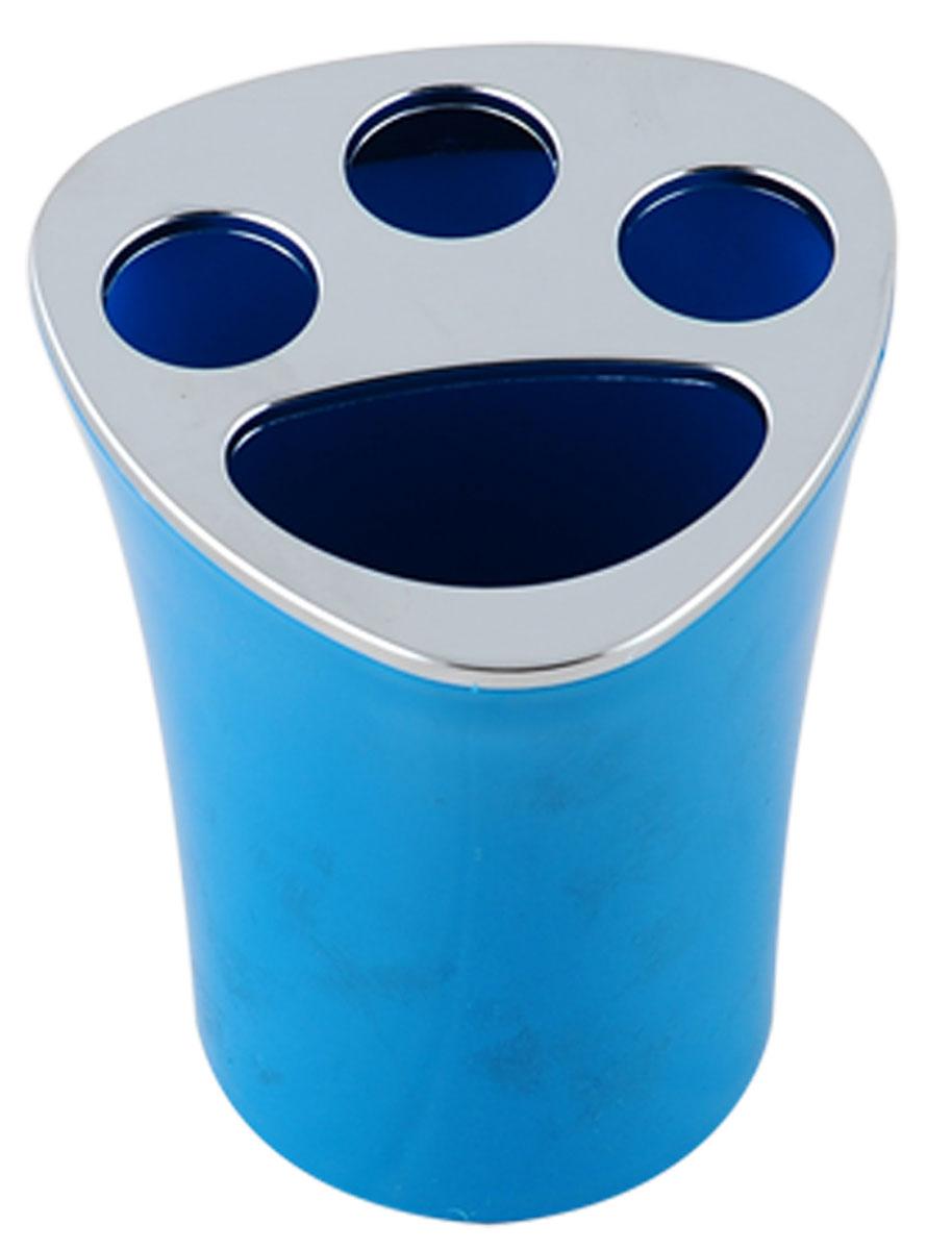 Стакан для зубных щеток Vanstore Wiki Blue, цвет: голубой, высота 10 см356-02_голубойОригинальный стакан для зубных щеток Vanstore Wiki Blue изготовлен из пластика и отлично подойдет для вашей ванной комнаты. Стильный дизайн изделия притягивает взгляд и прекрасно подойдет к интерьеру в ванной комнаты. Размер стакана: 8 х 8 х 10 см.