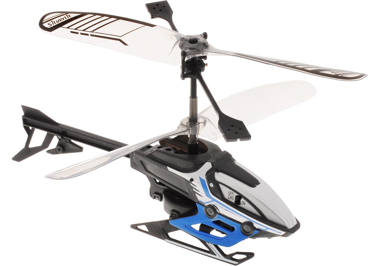 Silverlit Вертолет на инфракрасном управлении Alpha Y цвет черный синий84734_черный, синий, PG-84734-IN-01Вертолет на инфракрасном управлении Silverlit Alpha Y привлечет внимание не только ребенка, но и взрослого, и станет отличным подарком любителю воздушной техники. Вертолет имеет двухканальное дистанционное управление. Возможные движения: вверх, вниз, вправо, влево. Сверхточное цифровое пропорциональное управление позволяет совершать самые невероятные маневры. Модель вертолета идеально подходит для игры внутри помещения. Каждый полет вертолета будет максимально комфортным и принесет вам яркие впечатления! В комплекте: вертолет, пульт управления, инструкция по эксплуатации на русском языке. Вертолет работает от встроенного аккумулятора. Заряжается аккумулятор с помощью пульта дистанционного управления. Время зарядки: 20-30 минут. Время работы игрушки с полностью заряженным аккумулятором: 4-5 минут. Для работы пульта управления необходимы 4 батарейки типа АА напряжением 1,5V (не входят в комплект).