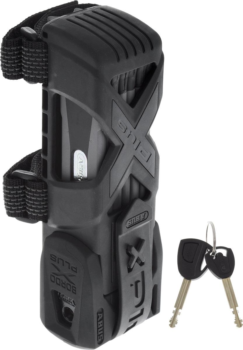 """Велозамок Abus """"Bordo Granit X-Plus 6500/85"""", с ключами, цвет: черный, серый 551604_ABUS"""