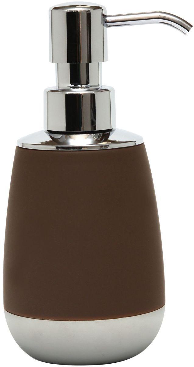 Диспенсер для жидкого мыла Proffi Home, цвет: шоколадный, хром, 300 млPH6522Диспенсер Proffi Home изготовлен из высокопрочного пластика с мягким нескользящим каучуковым покрытием, которое придает аксессуару бархатистую приятную на ощупь поверхность. Диспенсер для мыла очень удобен в использовании: просто выдавите необходимое количество мыла. Благодаря лаконичной форме и хромированным деталям такой аксессуар отлично впишется в любой интерьер ванной комнаты.