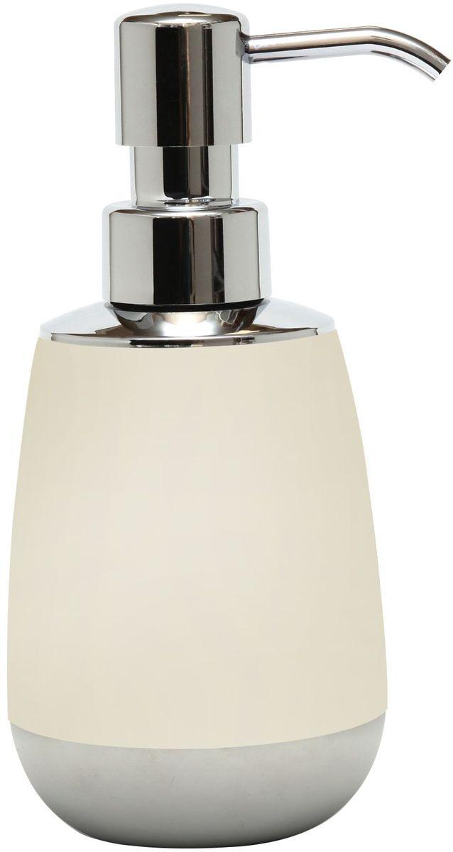 Диспенсер для жидкого мыла Proffi Home, цвет: светло-бежевый, хром, 300 млPH6526Диспенсер для жидкого мыла Proffi Home изготовлен из высокопрочного пластика с мягким нескользящим каучуковым покрытием, которое придает аксессуару бархатистую приятную на ощупь поверхность. Диспенсер для мыла очень удобен в использовании: просто выдавите необходимое количество мыла. Благодаря лаконичной форме и хромированным деталям такой аксессуар отлично впишется в любой интерьер ванной комнаты.