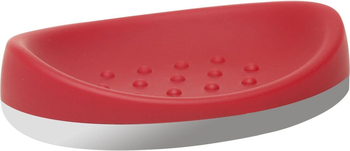 Мыльница Proffi Home, цвет: красный, хром, 14 х 9,8 х 3,5 смPH6532Мыльница Proffi Home - это стильный аксессуар для хранения мыла. Мыльница выполнена из пластика с каучуковым покрытием и дополнена хромированными элементами. Каучуковое покрытие обеспечивает антискользящий эффект, а пластик отличается легкостью, прочностью и долговечностью. Рифленое дно предотвращает размокание и соскальзывание мыла. Благодаря лаконичной форме и хромированным деталям такой аксессуар отлично впишется в любой интерьер ванной комнаты.
