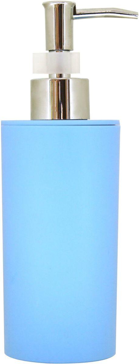 Диспенсер для жидкого мыла Proffi Home, цвет: голубой, 450 млPH6516Диспенсер Proffi Home - незаменимый аксессуар для тех, кто ценит чистоту своей раковины и экономный расход мыла. Вы можете легко переставлять его при необходимости. Этот диспенсер выполнен из качественного полипропилена, приятного на ощупь. Отличается легкостью и при этом устойчив. Благодаря лаконичной форме и хромированному носику такой аксессуар отлично впишется в любой интерьер ванной комнаты.