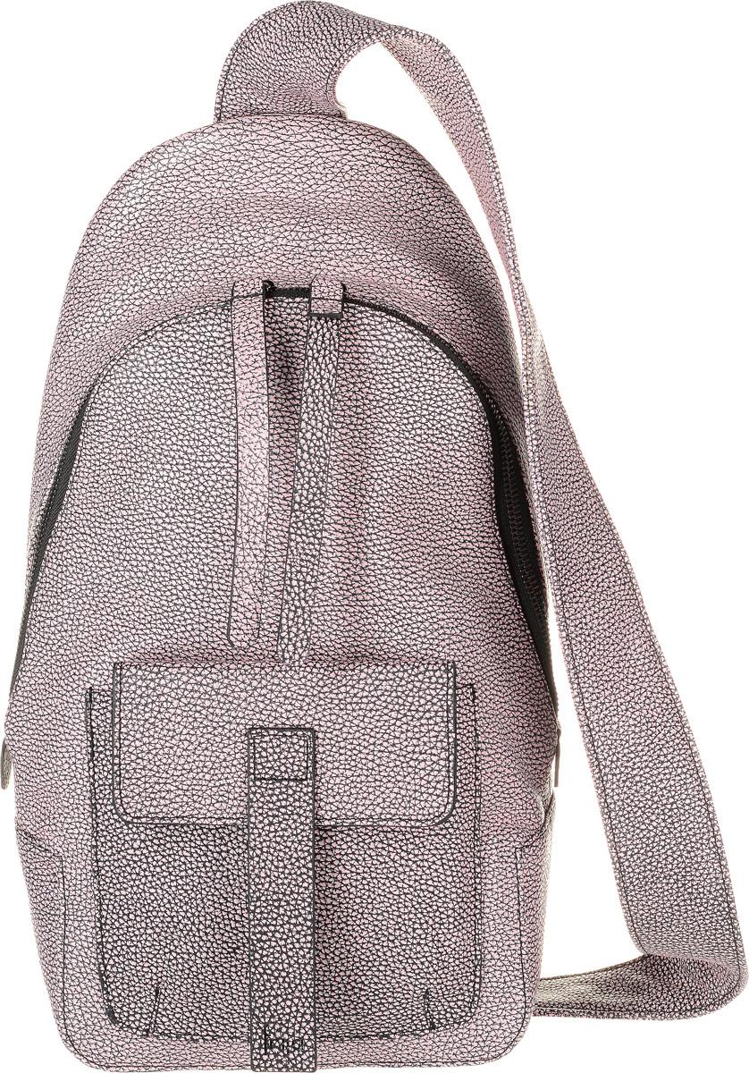 Рюкзак женский Frija, цвет: черный, розовый. 21-350-1621-350-16_черный, розовыйСтильный женский рюкзак Frija выполнен из натуральной кожи. Изделие имеет одно отделение, закрывающееся на застежку-молнию. Внутри находятся прорезной карман на застежке-молнии и два открытых накладных кармана. Снаружи, на передней стенке располагается накладной карман с клапаном на магните. Сзади модель дополнена прорезным карманом на застежке-молнии. Рюкзак оснащен одной удобной лямкой.