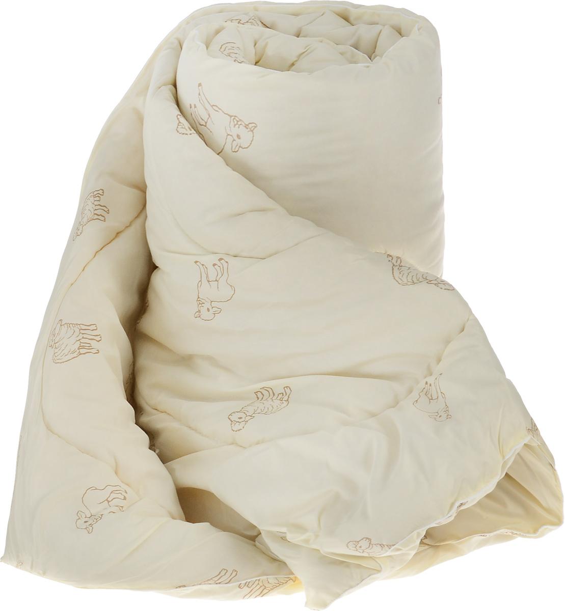 Одеяло теплое Легкие сны Золотое руно, наполнитель: овечья шерсть, 172 x 205 см172(32)05-ОШПТеплое стеганое одеяло Легкие сны Золотое руно с наполнителем из овечьей шерсти расслабит, снимет усталость и подарит вам спокойный и здоровый сон. Шерстяные волокна, получаемые из овечьей шерсти, имеют полую структуру, придающую изделиям высокую износоустойчивость. Чехол одеяла, выполненный из смесовой ткани отлично пропускает воздух, создавая эффект сухого тепла. Одеяло простегано. Стежка надежно удерживает наполнитель внутри и не позволяет ему скатываться. Рекомендации по уходу: Отбеливание, стирка, барабанная сушка и глажка запрещены. Разрешается химчистка. Уважаемые клиенты! Обращаем ваше внимание на цветовой ассортимент товара. Поставка осуществляется в зависимости от наличия на складе.