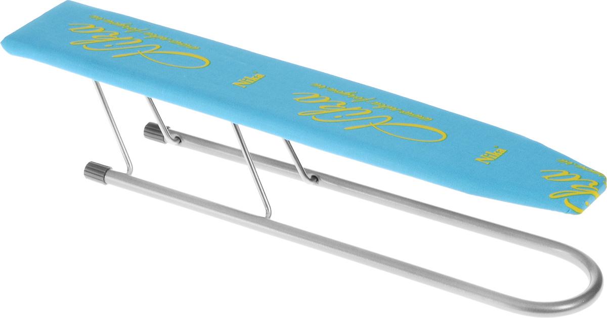 Рукав для гладильной доски HITT Carina, 50 х 9 смH29-05313HITT Carina применяется для глажки рукавов и манжетов. Чехол изделия выполнен из высококачественного хлопка, внутри прослойка из поролона. Рабочая часть изготовлена из дерева. Рукав оснащен металлическими складными ножками. Размер рабочей части: 50 х 9 см. Высота рукава: 10,5 см.