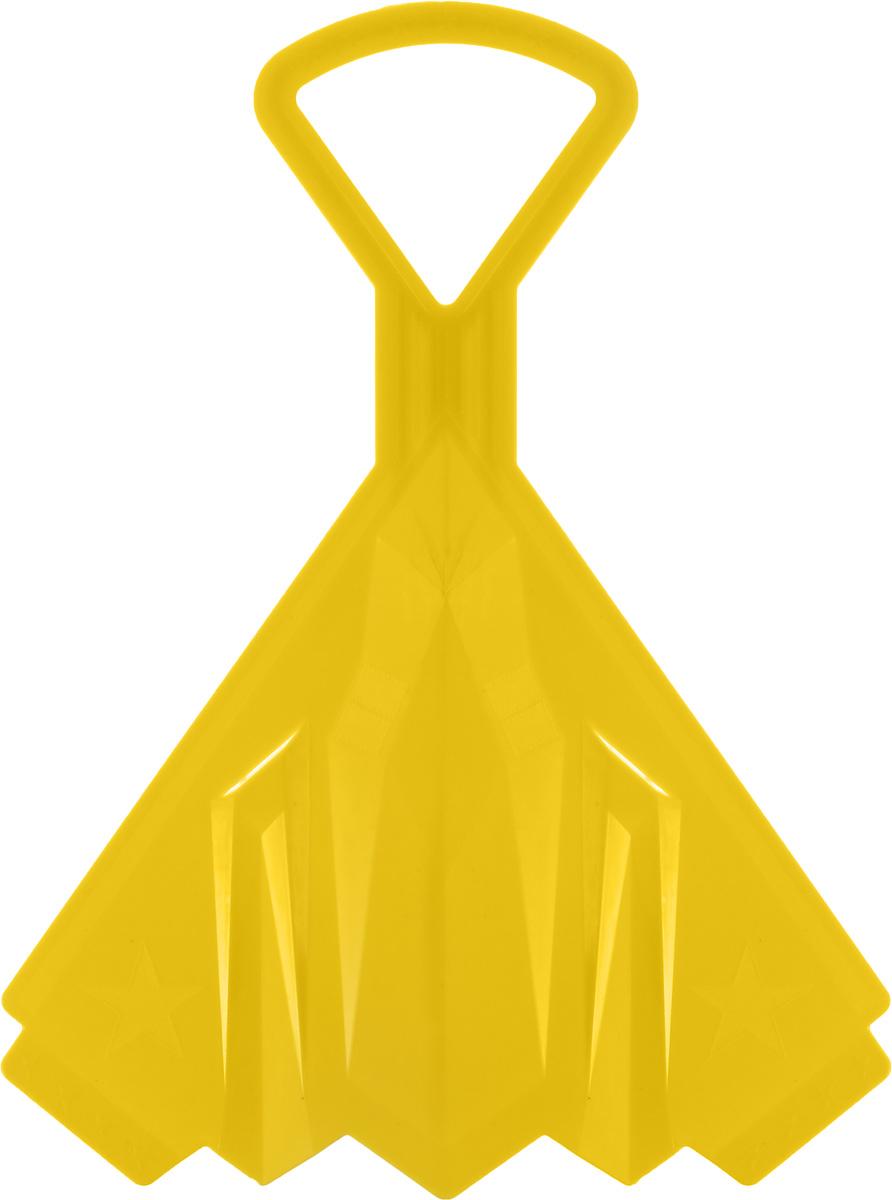 "Санки-ледянки Престиж ""Самолет"", цвет: желтый, 42 х 32 см 339805"