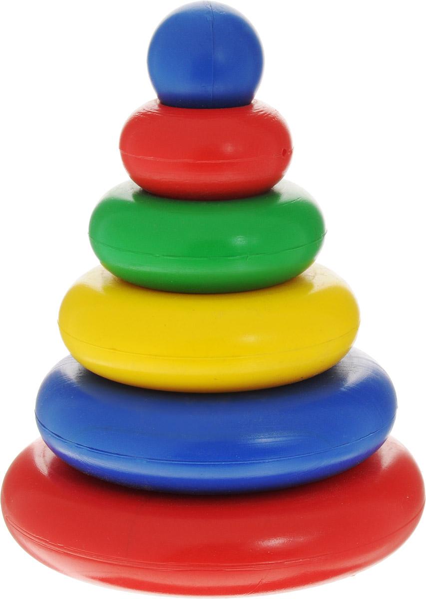 Волшебный городок Пирамидка 5 колецП-5КРазвивающая пирамидка Волшебный городок станет любимой игрушкой вашего крохи. Яркая пирамидка выполнена из высококачественного и безопасного материала, для того, чтобы ваш ребенок развивался без вреда для здоровья. Игрушка состоит из пяти колец разного диаметра, верхнего круглого элемента и стержня-основы. В процессе игры с пирамидкой (разборка и сборка, сортировка составных частей по цвету и размеру) у ребенка намного быстрее развивается логическое мышление, улучшается моторика ручек, формируется правильная координация движений.
