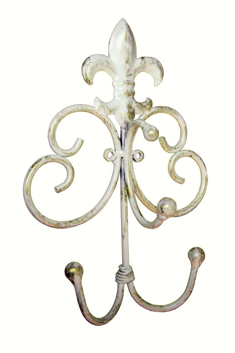 Вешалка настенная GiftnHome Французская лилия, 16 х 9 х 25 смКр3 LilyЖестяные изделия в стиле Прованс - это мода не имеющая времени. Прекрасно исполненных итальянской фабрикой GiftnHome, интерьерные изделия выполнены техникой Дэ-купаж, (изделия из жести, покрыты специальными бумажными обоями с декором Они внесут в ваш дом атмосферу благородной старины, европейского стиля, уюта деревенского домика в Провансе