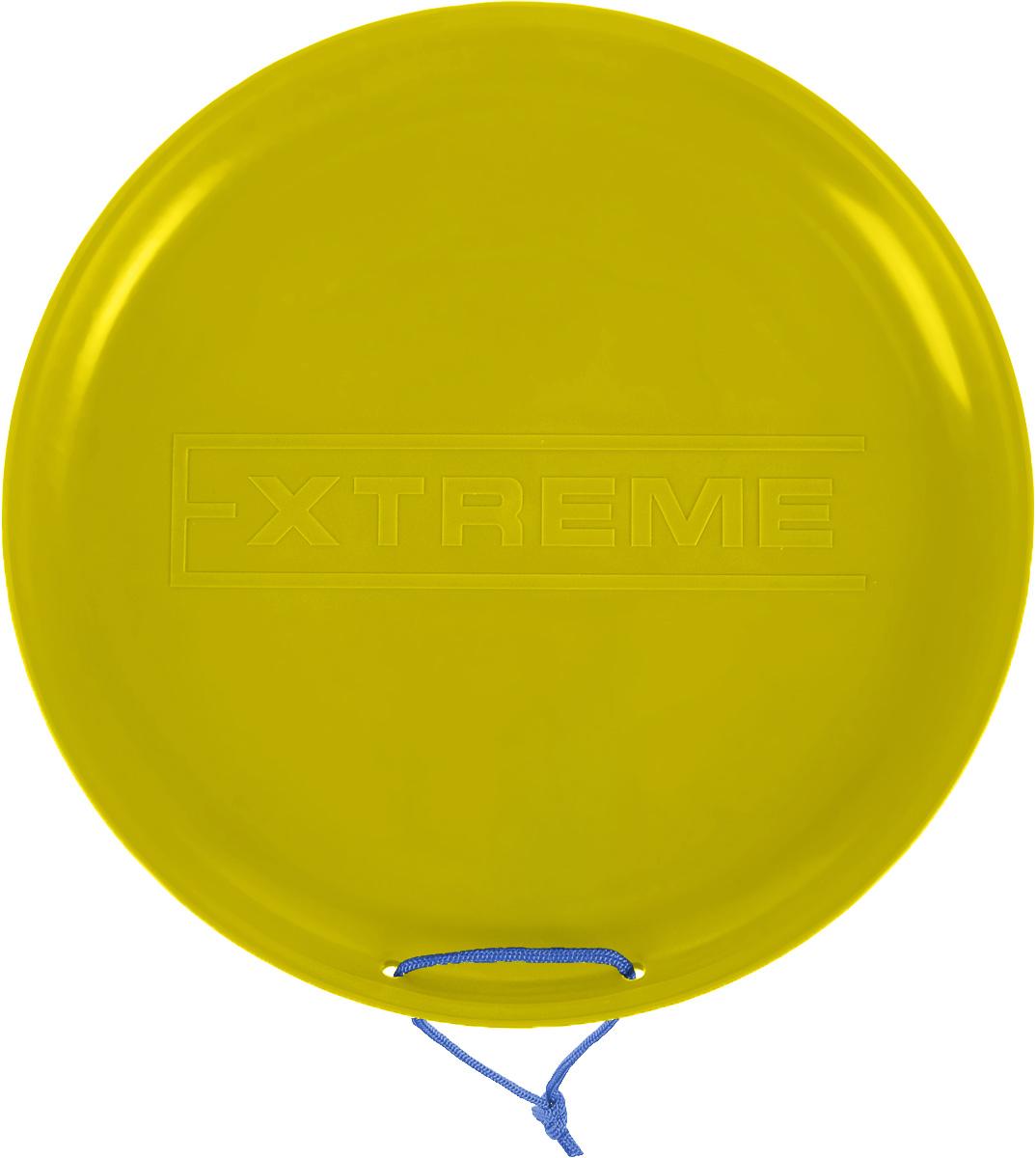 """Санки-ледянки Престиж """"Экстрим"""", цвет: желтый, диаметр 40 см 337713"""