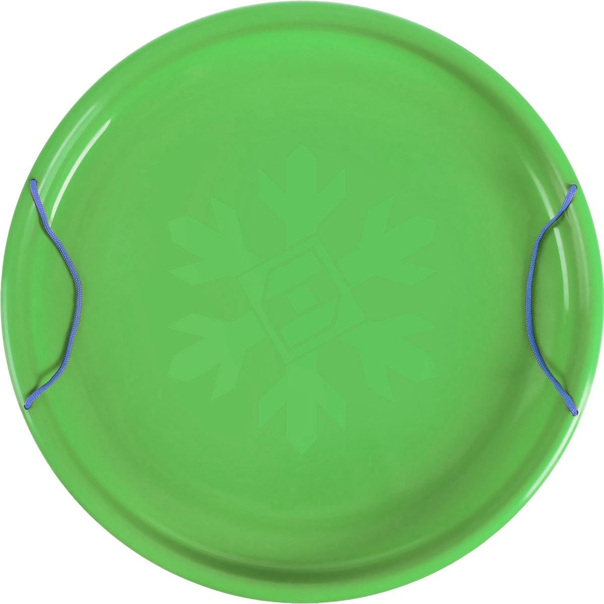 Санки-ледянки Престиж Экстрим, цвет: зеленый, диаметр 53 см336921Любимая детская зимняя забава - это катание с горки. Яркие санки-ледянки Престиж Экстрим станут незаменимым атрибутом этой веселой детской игры. Санки-ледянки - это специальная пластиковая тарелка, облегчающая скольжение и увеличивающая скорость движения по горке. Ледянка выполнена из прочного гибкого пластика и снабжена двумя ручками по бокам. Конфигурация санок позволяет удобно сидеть и развивать лучшую скорость. Благодаря малому весу ледянку, в отличие от обычных санок, легко нести с собой даже ребенку.