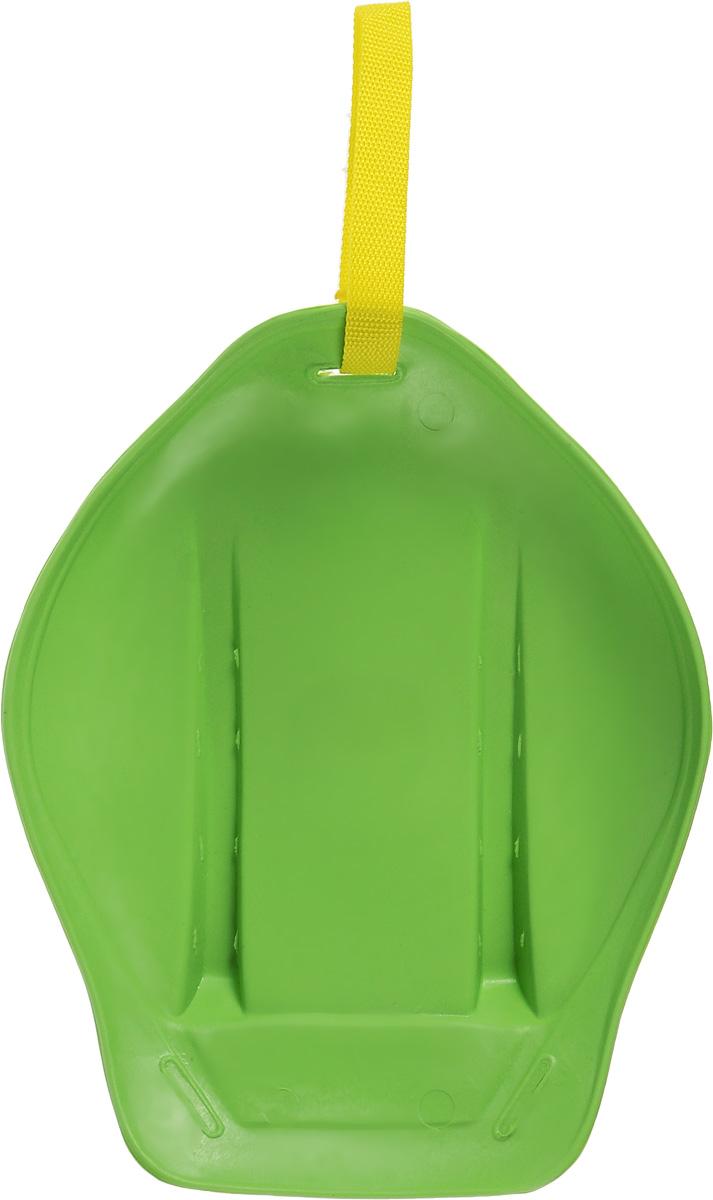 Санки-ледянки Престиж, с ручкой-ремнем, цвет: зеленый, 32,5 х 26,5 х 7 см339808Любимая детская зимняя забава - это кататься с горки. Яркие санки-ледянки Престиж станут незаменимым атрибутом этой веселой детской игры. Санки-ледянки - это специальная пластиковая тарелка, облегчающая скольжение и увеличивающая скорость движения по горке. Ледянка выполнена из прочного гибкого пластика и снабжена текстильной ручкой для транспортировки. Конфигурация санок позволяет удобно сидеть и развивать лучшую скорость. Благодаря малому весу ледянку, в отличие от обычных санок, легко нести с собой даже ребенку.
