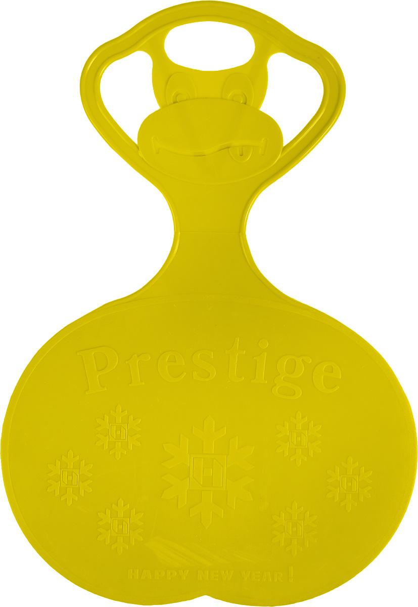 Санки-ледянки Престиж, с символикой, цвет: желтый, 47 х 32 см336896Любимая детская зимняя забава - это катание с горки. Яркие санки-ледянки Престиж станут незаменимым атрибутом этой веселой детской игры. Изделие украшено рельефной символикой. Санки-ледянки - это специальная пластиковая тарелка, облегчающая скольжение и увеличивающая скорость движения по горке. Ледянка выполнена из прочного гибкого пластика и снабжена ручкой для переноски. Конфигурация санок позволяет удобно сидеть и развивать лучшую скорость. Благодаря малому весу ледянку, в отличие от обычных санок, легко нести с собой даже ребенку.