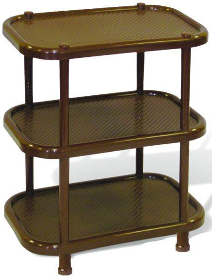 Полка овальная Idea, цвет: коричневый, 30,7 х 49,2 х 51 см, 3 секции. М 2716М 2716