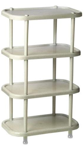 Полка овальная Idea, цвет: мраморный, 30,7 х 49,2 х 53 см, 4 секции. М 2717М 2717Этажерка Idea с 4 полками выполнена из высококачественного пластика и предназначена для хранения обуви в прихожей. На каждой полке можно разместить по две пары обуви. Очень удобная и компактная, но в тоже время вместительная, этажерка прекрасно впишется в пространство вашей прихожей. Легко собирается и разбирается.