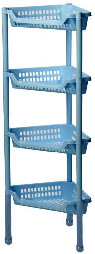 Полка угловая Idea Евро, на колесах, 4 секции, цвет: голубой, 39 х 27 х 95 смМ 2757Удобная и практичная угловая полка Idea Евро станет незаменимым аксессуаром в вашем хозяйстве. Она изготовлена из высококачественного полипропилена и имеет четыре секции. Полку можно установить в ванной комнате, прихожей или кухне. Полка легко передвигается. Благодаря компактным размерам полка впишется в интерьер вашего дома и позволит вам удобно и практично хранить предметы домашнего обихода. Изделие поставляется в разобранном виде. Размер полки: 39 х 27 х 95 см.