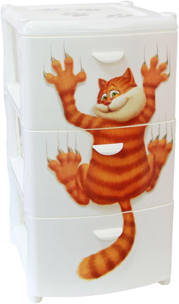 Комод Idea Альт Деко. Кот, 48,5 х 39 х 40,5 см, 3 секцииМ 2804Комод Idea Альт Деко. Кот изготовлен из высококачественного пластика. Ящики оформлены изображением кота. Комод предназначен для хранения различных вещей и состоит из 3 вместительных выдвижных секций. Такой необычный и яркий комод надежно защитит вещи от загрязнений, пыли и моли, а также позволит вам хранить их компактно и с удобством. Размер комода: 48,5 х 39 х 40,5 см.