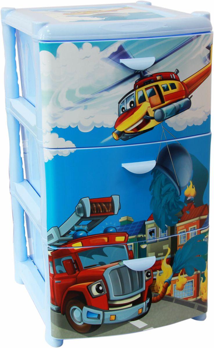 Комод Idea «Альт Деко. Спасатели», 48,5 х 39 х 40,5 см, 3 секции  диван кровать с мягким изголовьем