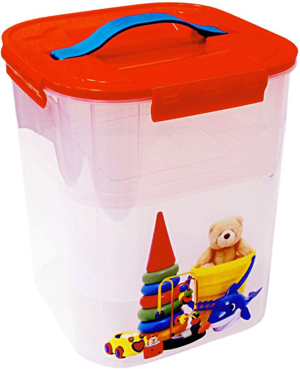 "Контейнер для хранения Idea ""Деко. Игрушки"", с вкладышами, 23 х 23 х 26,5 см, Idea (М-пластика)"