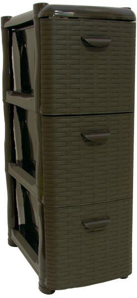 Комод Idea Ротанг, цвет: коричневый ротанг, 26,2 х 50,2 х 48 см, 3 секции. М 2813М 2813