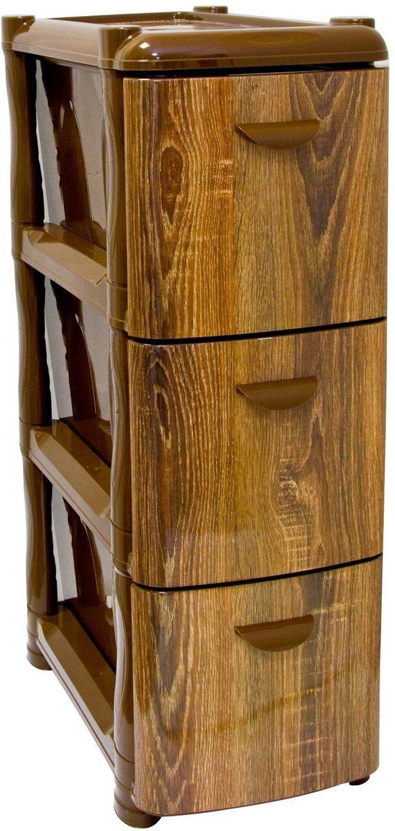 Комод Idea Альт Деко. Дерево, 26,2 х 50,2 х 40 см, 3 секцииМ 2807Комод Idea Альт Деко изготовлен из высококачественного пластика. Ящики стилизованы под дерево. Комод предназначен для хранения различных вещей и состоит из 3 вместительных выдвижных секций. Такой необычный комод надежно защитит вещи от загрязнений, пыли и моли, а также позволит вам хранить их компактно и с удобством. Размер комода: 26,2 х 50,2 х 40 см.