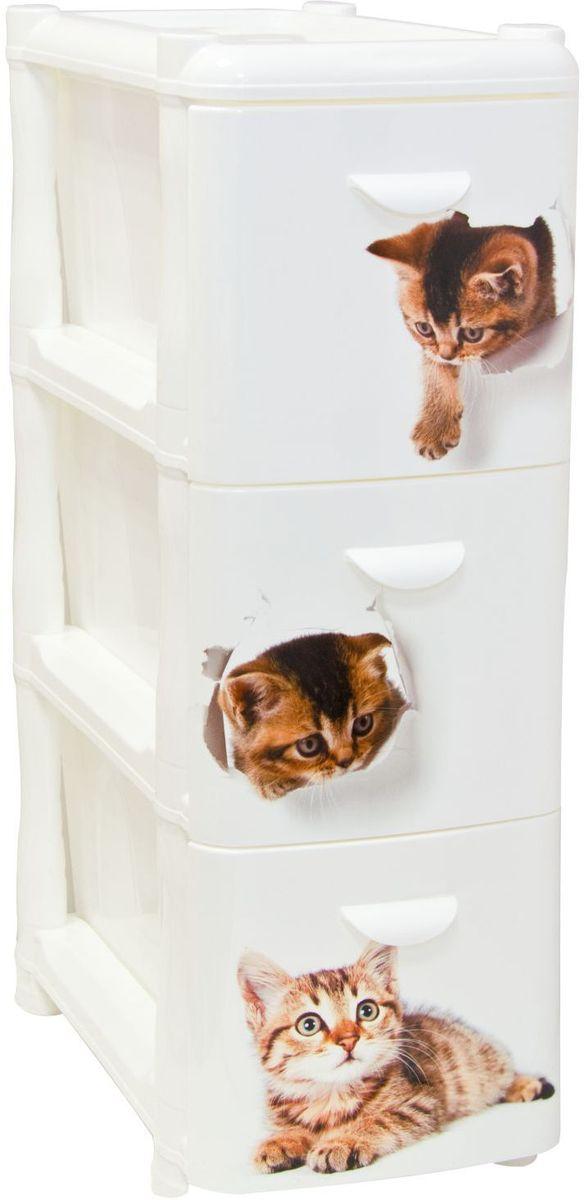 Комод Idea Альт Деко. Котята, 26,2 х 50,2 х 40 см, 3 секцииМ 2807Комод Idea Альт Деко изготовлен из высококачественного пластика. Ящики оформлены изображением котят. Комод предназначен для хранения различных вещей и состоит из 3 вместительных выдвижных секций. Такой необычный и яркий комод надежно защитит вещи от загрязнений, пыли и моли, а также позволит вам хранить их компактно и с удобством. Размер комода: 26,2 х 50,2 х 40 см.