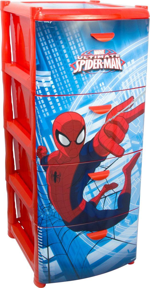 Комод Disney Человек-Паук, цвет: красный, 40,5 х 48,5 х 46 см, 4 секции. М 2805-ММ 2805-М