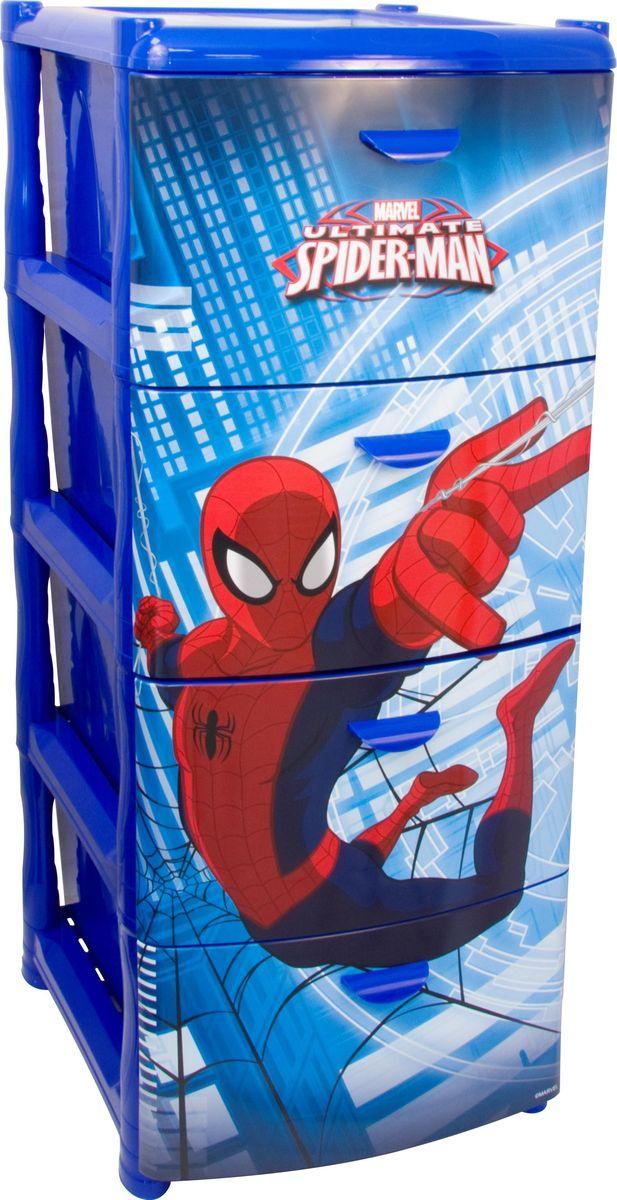 Комод Disney Человек-Паук, цвет: синий, 40,5 х 48,5 х 46 см, 4 секции. М 2805-ММ 2805-М