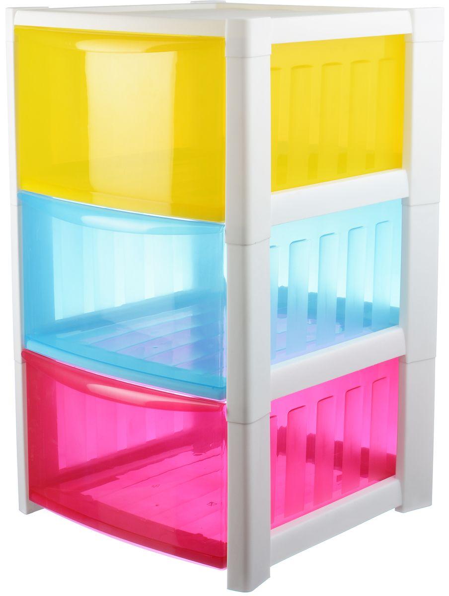 Комод Idea Радуга, цвет: разноцветный, 36 х 37 х 59,3 см, 3 секции. М 2793М 2793