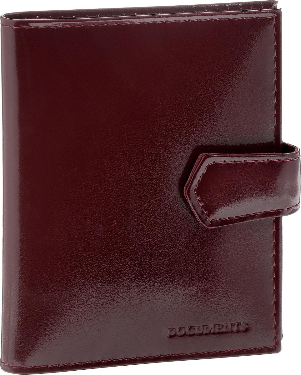 Обложка для автодокументов Главдор, на кнопке, цвет: бордовыйGL-265Обложка для автодокументов Главдор выполнена из натуральной кожи. Закрывается при помощи хлястика на кнопку. Внутри содержится съемный блок из пяти прозрачных файлов из мягкого пластика,вертикальный кожаный карман и один прорезных карман для кредитных карт или визиток. Имеется специальное отделение для паспорта. Модная обложка для автодокументов не только поможет сохранить их внешний вид и защитить от повреждений, но и станет стильным аксессуаром, который отлично впишется в ваш образ.