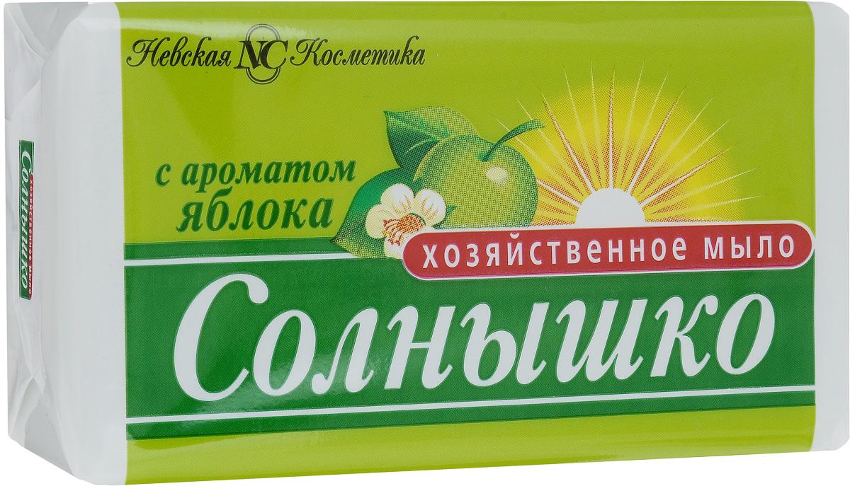 Мыло хозяйственное Солнышко, с ароматом яблока, 140 г11146Мыло хозяйственное Солнышко используется для ручной стирки, мытья рук и посуды. Подходит для замачивания и стирки мелких вещей, создает пышную пену. Придает белью свежий аромат яблока. Мыло хозяйственное кусковое легко удаляет жир с посуды, при мытье рук не вызывает раздражения кожи. Содержит не более 72% жирных кислот и большое количество щелочей. Товар сертифицирован.