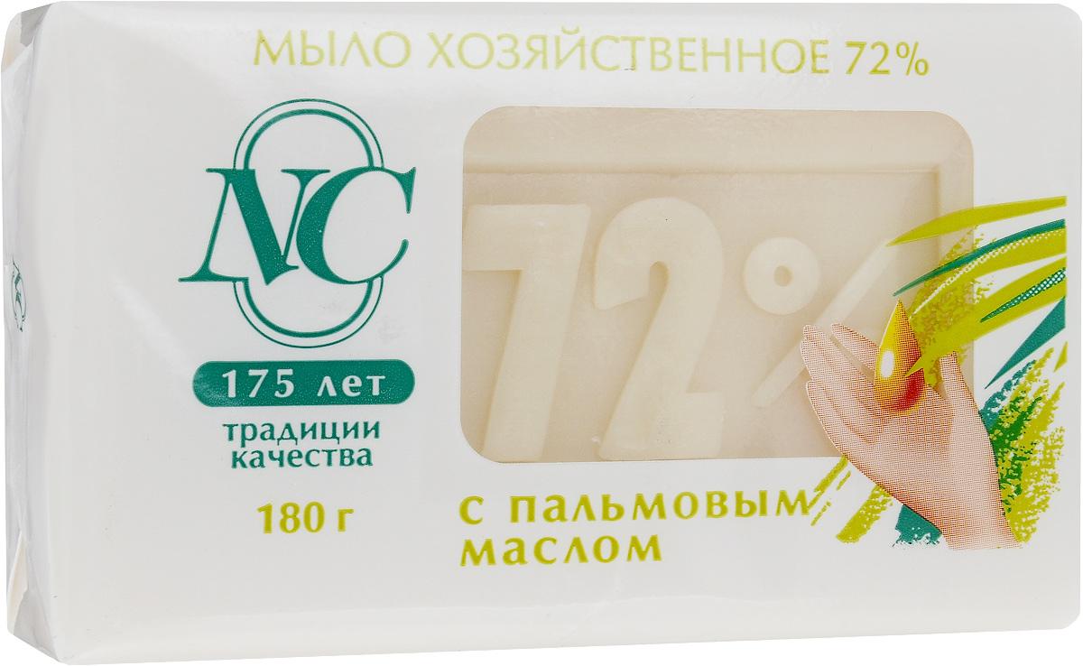 Мыло хозяйственное 72%, с пальмовым маслом, 180 г11144Мыло хозяйственное 72% подходит для ручной стирки изделий из всех типов тканей. Обладает мягким воздействием на кожу. Дает обильную пену даже в холодной воде. Подходит для стирки, уборки, мытья посуды и мытья рук. Имеет в составе косметическую добавку, которая увлажняет кожу рук. Товар сертифицирован.