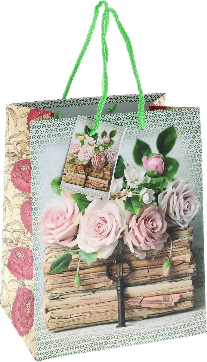 Пакет подарочный Magic Home Книги и розы, 17,8 х 22,9 х 9,8 см44174Подарочный пакет Magic Time Книги и розы, изготовленный из плотной бумаги, станет незаменимым дополнением к выбранному подарку. Для удобной переноски на пакете имеются две ручки из шнурков. Подарок, преподнесенный в оригинальной упаковке, всегда будет самым эффектным и запоминающимся. Окружите близких людей вниманием и заботой, вручив презент в нарядном, праздничном оформлении.