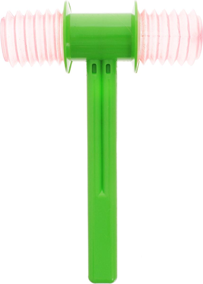 Аэлита Игрушка-пищалка Молоток цвет зеленый розовый2С292_зеленый, розовыйЯркая развивающая игрушка Аэлита Молоток привлечет внимание вашего малыша и не позволит ему скучать. Она выполнена из безопасного пластика в виде молоточка. Благодаря удобной ручке ребенку будет удобно держать игрушку. При ударе молоточком срабатывает встроенная пищалка с забавным звуком. Игрушка способствует развитию у ребенка цветового и звукового восприятия, мышления, мелкой моторики рук, координации движений и ловкости.
