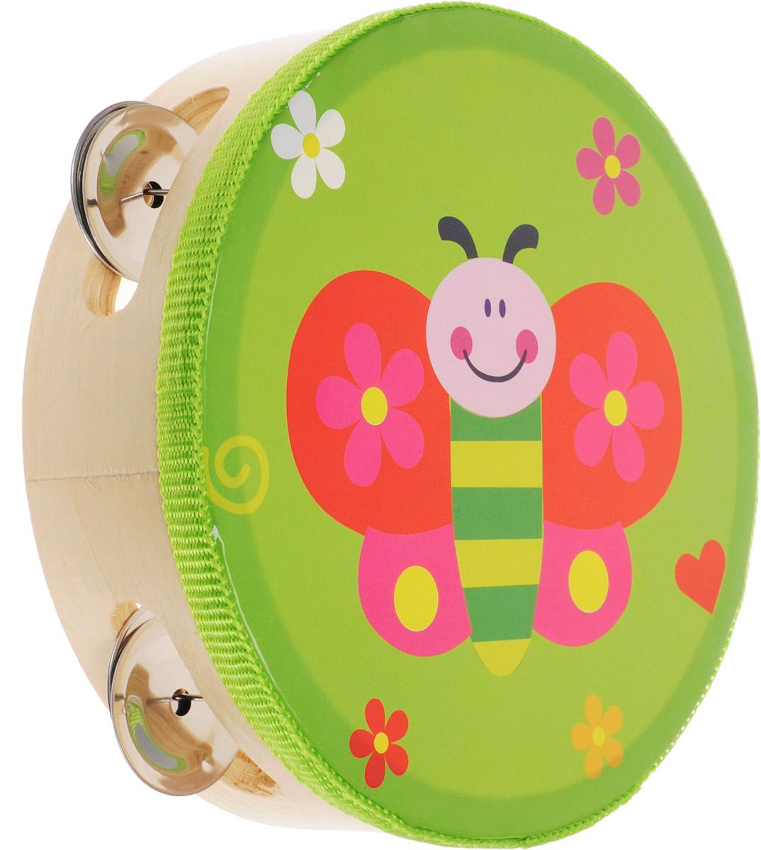 Мир деревянных игрушек Бубен БабочкаД212/бабочкаБубен Мир деревянных игрушек Цыпленок состоит из деревянного корпуса с ярким рисунком в виде симпатичной бабочки и железных дисков, звенящих при ударе и движении инструмента. Бубен издает приятный громкий звон, который непременно понравится ребенку. С помощью этого инструмента вы сможете устроить веселый концерт и порадовать своих родных и друзей. Бубен поможет вашему ребенку развить чувство ритма, а также привить малышу любовь к музыке.