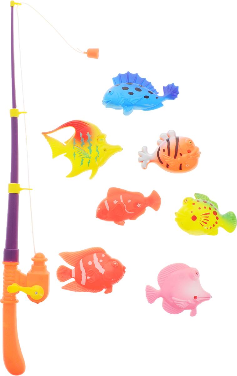 Играем вместе Игрушка для ванной Рыбалка Кот Леопольд цвет удочки фиолетовый оранжевыйB1273212-R_цвет удочки фиолетовый оранжевыйИгрушка для ванной Играем вместе Рыбалка. Кот Леопольд - вот это настоящая забава половить рыбку вместе с любимым героем! Теперь процесс купания станет для ребенка еще интереснее: ведь он проходит с котиком Леопольдом из полюбившегося всем мультфильма. В комплекте вы найдете одну удочку с магнитом и семь разноцветных рыбок. Игровой набор отлично подходит для развития моторики рук, координации движений и фантазии. Ловля рыбок станет увлекательным занятием для ребенка.