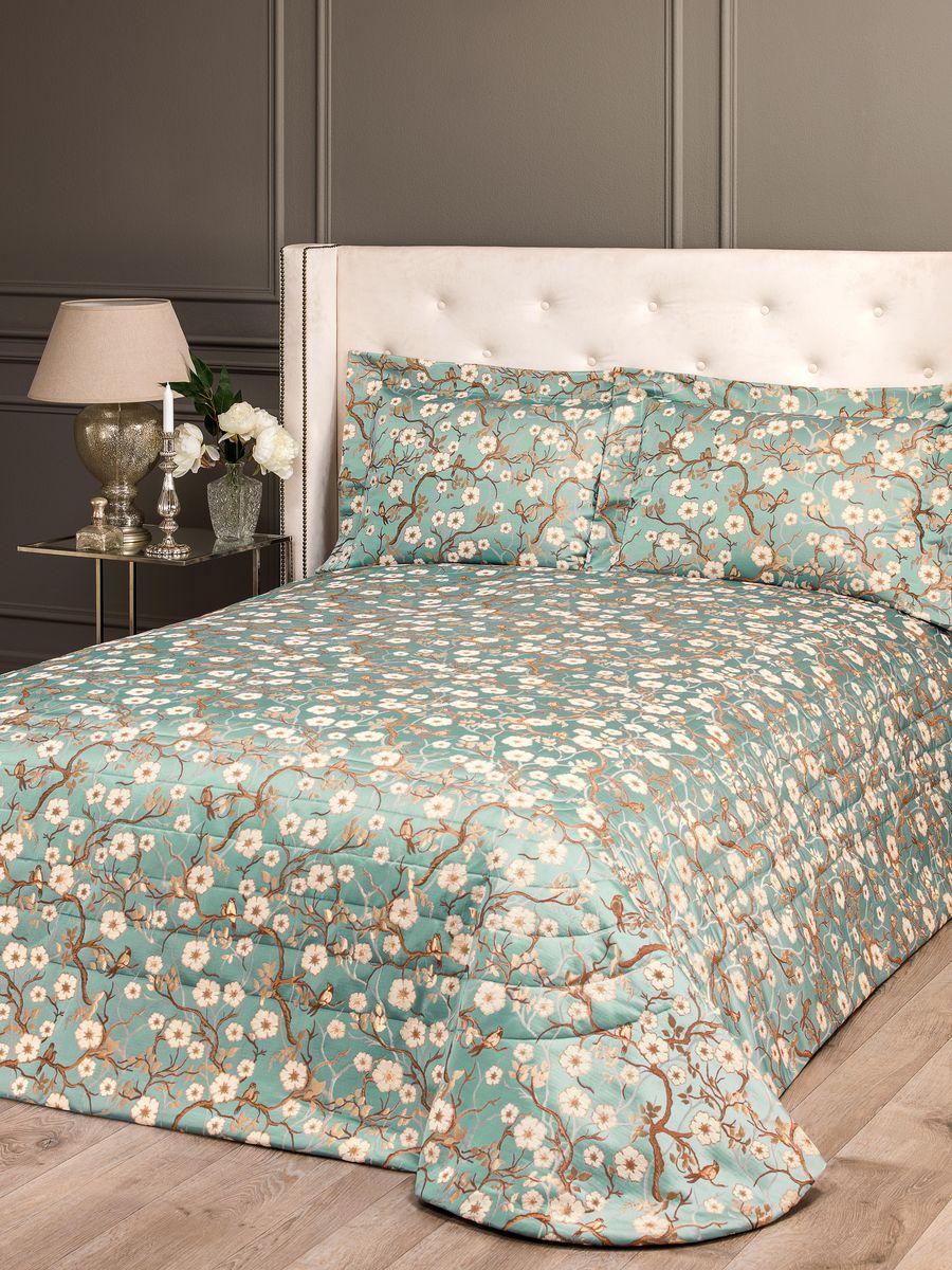 Комплект для спальни Togas Киото: покрывало 260 х 260 см, 2 наволочки, цвет: голубой40.12.61.0204