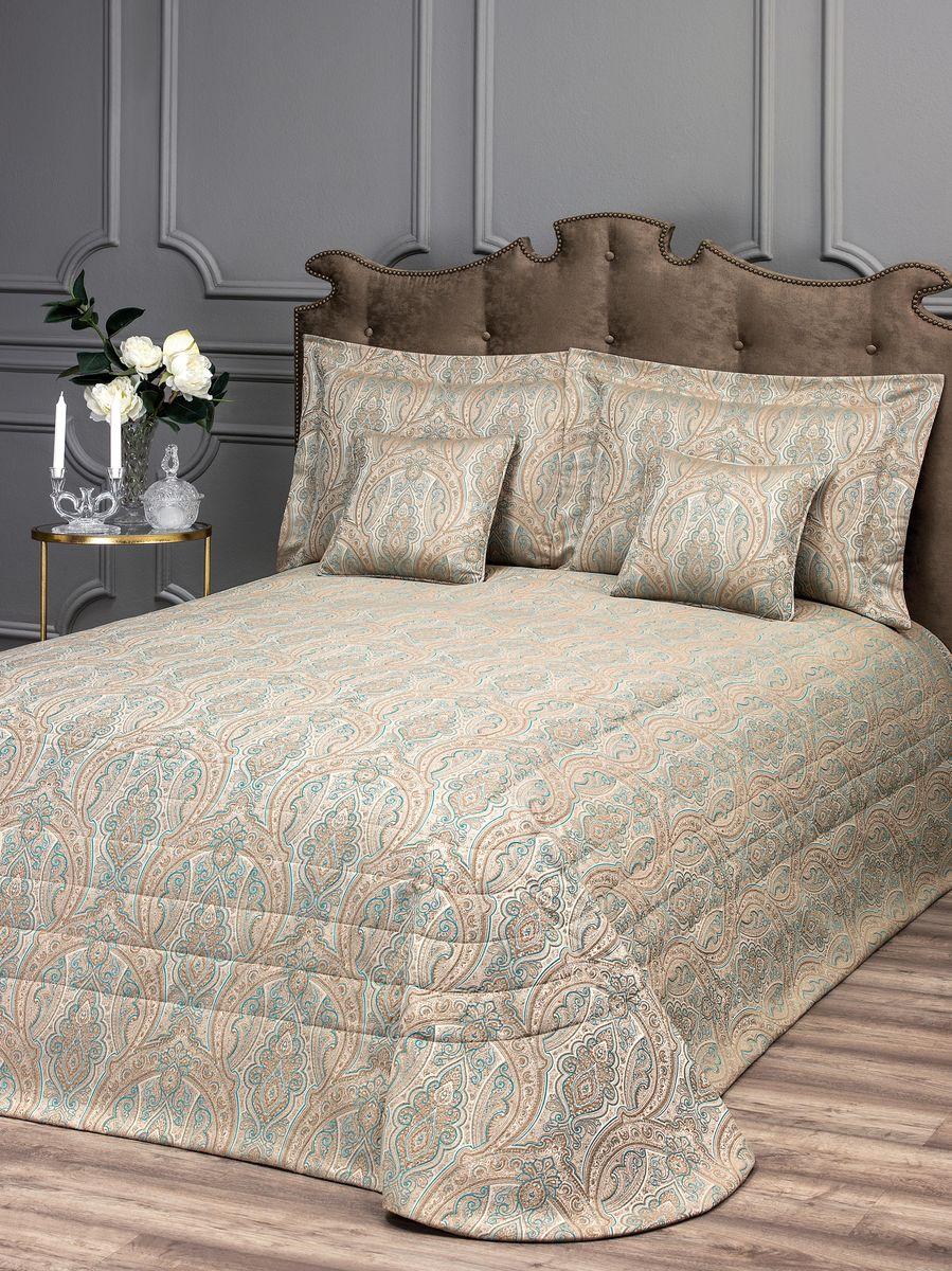 Комплект для спальни Togas Топаз: покрывало 260 х 260 см, 4 наволочки, цвет: голубой40.12.61.0203