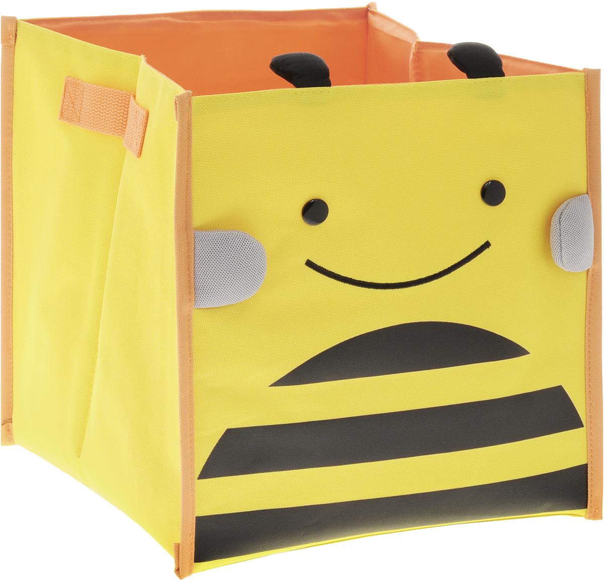 Bradex Короб для хранения ПчелкаDE 0230Короб для хранения Bradex Пчелка привлечет вас своим ярким дизайном. Короб предназначен для хранения небольших детских вещей: игрушек, канцтоваров, одежды и обуви. По бокам изделие имеет небольшие текстильные ручки для удобной переноски. Короб освободит место в квартире и украсит любую детскую комнату.