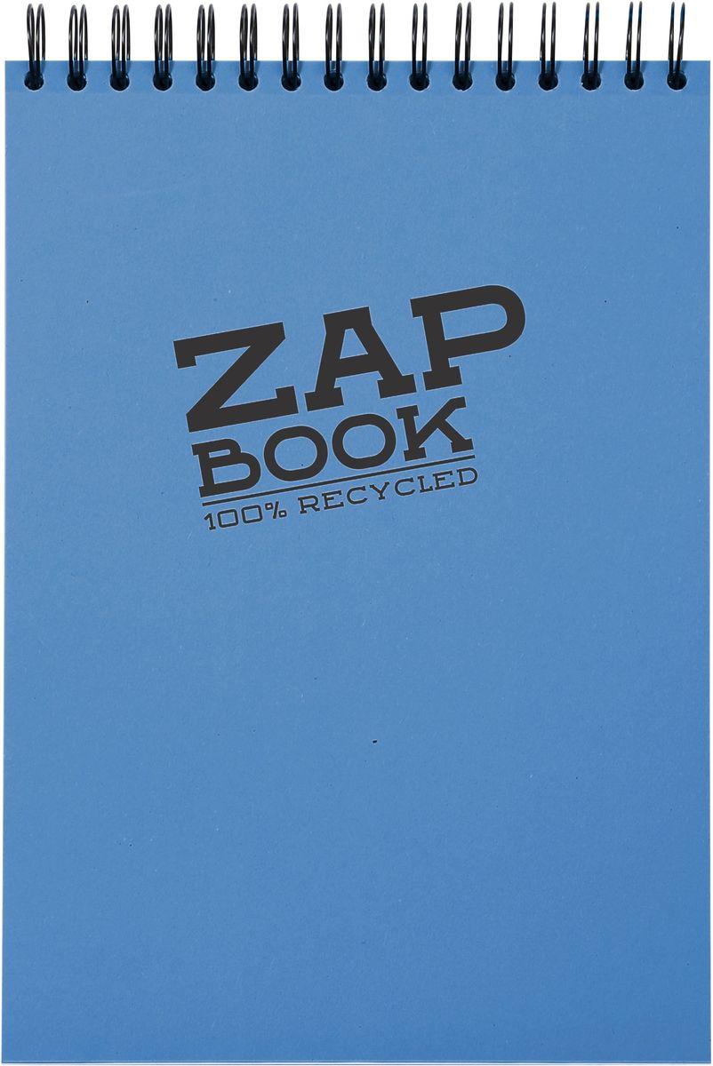Блокнот Clairefontaine Zap Book, цвет: синий, формат A6, 160 листов. 3356С3356СОригинальный блокнот Clairefontaine идеально подойдет для памятных записей, любимых стихов, рисунков и многого другого. Плотная обложка предохраняет листы от порчи и замятия. Такой блокнот станет забавным и практичным подарком - он не затеряется среди бумаг, и долгое время будет вызывать улыбку окружающих.