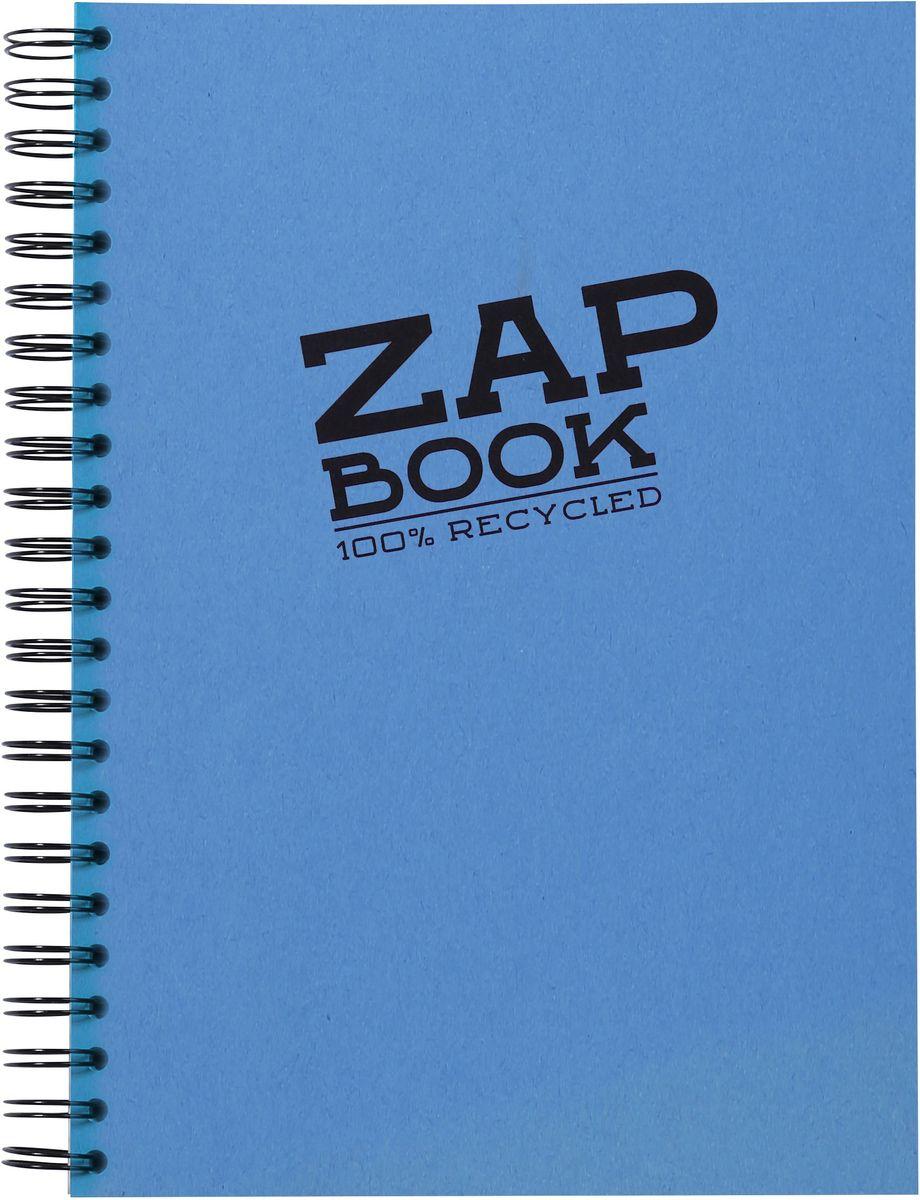 Блокнот Clairefontaine Zap Book, на спирали, цвет: синий, формат A4, 160 листов8354СОригинальный блокнот Clairefontaine идеально подойдет для памятных записей, любимых стихов, рисунков и многого другого. Плотная обложка предохраняет листы от порчи и замятия. Такой блокнот станет забавным и практичным подарком - он не затеряется среди бумаг, и долгое время будет вызывать улыбку окружающих.