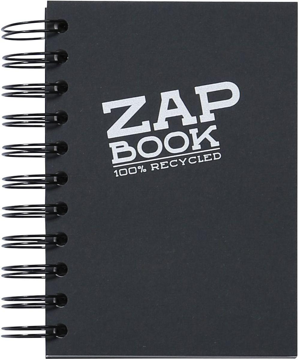Блокнот Clairefontaine Zap Book, на спирали, цвет: черый, формат A6, 160 листов8361СОригинальный блокнот Clairefontaine идеально подойдет для памятных записей, любимых стихов, рисунков и многого другого. Плотная обложка предохраняет листы от порчи и замятия. Такой блокнот станет забавным и практичным подарком - он не затеряется среди бумаг, и долгое время будет вызывать улыбку окружающих.