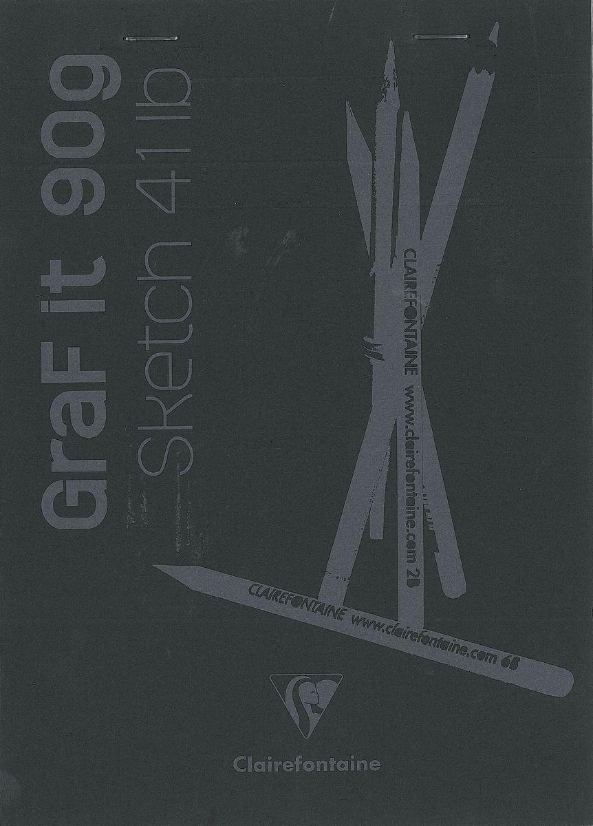 Блокнот Clairefontaine Graf It, для сухих техник, с перфорацией, цвет: черный, формат A5, 80 листов. 96842С96842СОригинальный блокнот Clairefontaine идеально подойдет для памятных записей, любимых стихов, рисунков и многого другого. Плотная обложка предохраняет листы от порчи и замятия. Такой блокнот станет забавным и практичным подарком - он не затеряется среди бумаг, и долгое время будет вызывать улыбку окружающих.