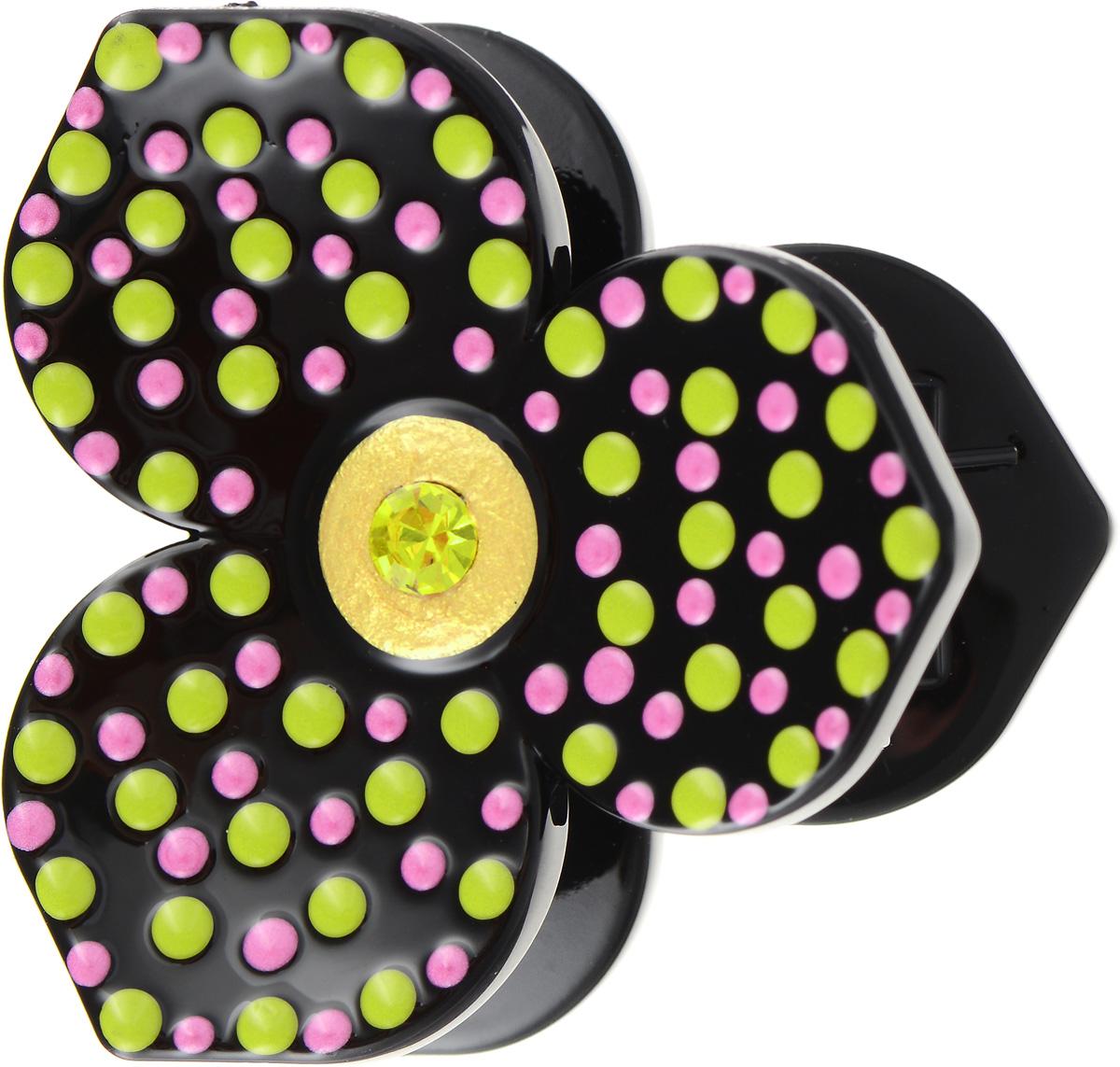 Заколка-краб Selena, цвет: желтый, черный. 7006417370064173Утонченная заколка-краб для волос Selena станет изюминкой вашего образа. Изделие изготовлено из пластика в виде цветка и декорировано вставками кристаллов Preciosa, а также ручной росписью эмалью. Аксессуары SELENA дарят женщине ощущение уникальности и привлекательности, помогая ей создать завершенный и неповторимый образ для любого случая жизни, а бижутерия этой коллекции служит приятным дополнением к любому стилю одежды.
