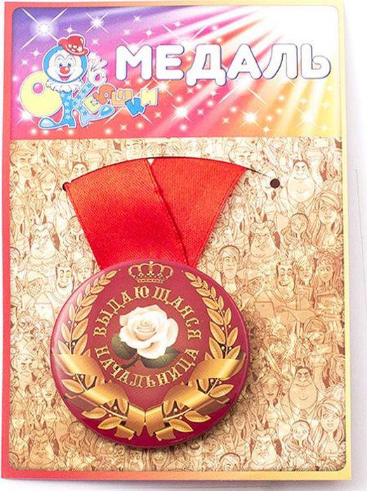 Медаль сувенирная Эврика Выдающаяся начальница. 9716797167Подарочная медаль с качественной атласной лентой уложена на красочной картонной подложке. Материалы медали: металл, красочный глянцевый картон, атласная лента шириной 2.5 см.