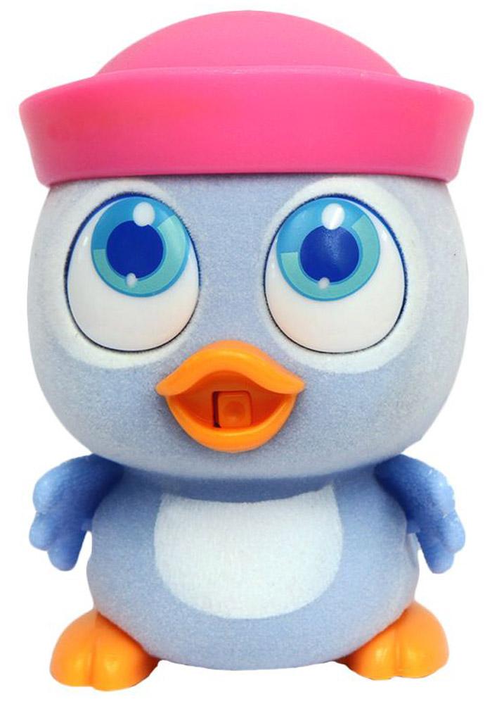 Пи-ко-ко Интерактивная игрушка Утенок в панаме22060_голубойИнтерактивная игрушка Пи-ко-ко Утенок в панаме приведет в восторг любого ребенка. После включения птенец начинает идти, весело щебетать и махать крыльями. Стоит хлопнуть в ладони, он громко запищит и быстро начнет бежать. Если взять его в руки и покормить из бутылочки, входящей в набор, птенец успокоится и радостно зачирикает. После этого он начнет медленно ходить и щебетать, пока опять не услышит громкий звук. Необходимо купить батарейку типа AAA (не входит в комплект).