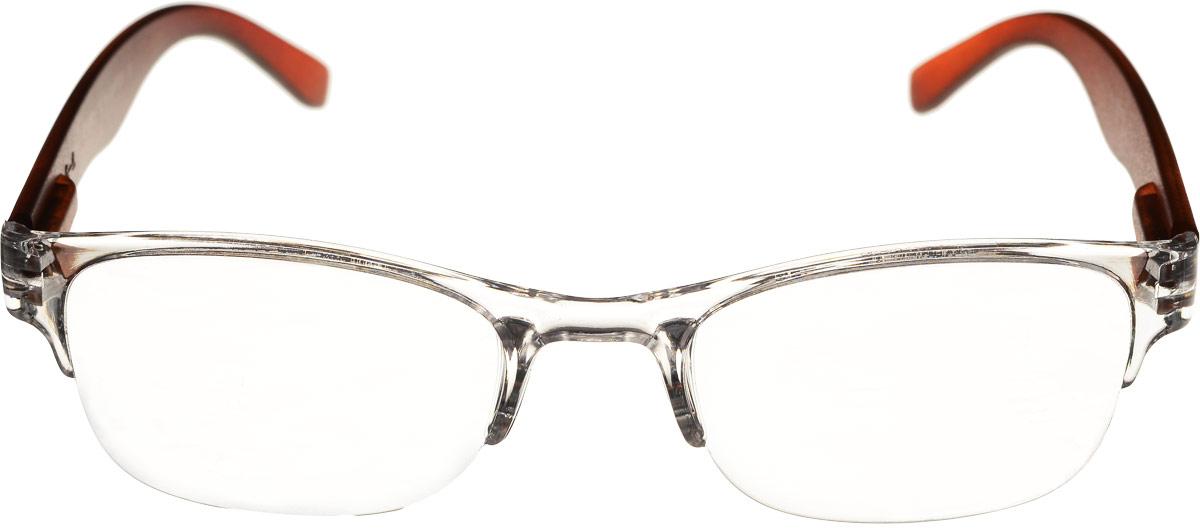 Proffi Home Очки корригирующие (для чтения) 322 Fabia Monti +2.00, цвет: коричневый, прозрачныйPH5519_коричневый, прозрачныйКорригирующие очки, это очки которые направлены непосредственно на коррекцию зрения. Готовые очки для чтения с минусовыми и плюсовыми диоптриями (от -2,5 до + 4,00), не требующие рецепта врача. За счет технологически упрощенной конструкции и отсуствию этапа изготовления линз по индивидуальным параметрам - экономичный готовый вариант для людей, пользующихся очками нечасто, в основном, для чтения.