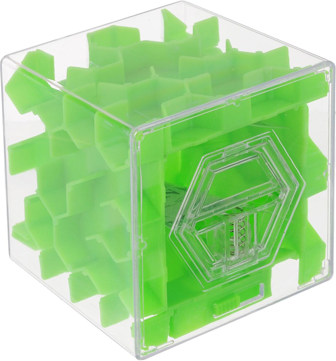 Копилка-головоломка Эврика Лабиринт, цвет: зеленый97475Копилка Лабиринт - это самая настоящая головоломка. Она изготовлена из высококачественного пластика. Чтобы достать накопленные денежки, необходимо провести шарик по запутанному пути. Копилка Лабиринт - оригинальный способ преподнести подарок. Положите купюру в копилку и смело вручайте имениннику. Вашему другу придется потрудиться, чтобы достать подаренную купюру. Копилка имеет отверстие, чтобы класть в неё деньги. Размер копилки: 6,5 х 6,5 х 6,5 см.