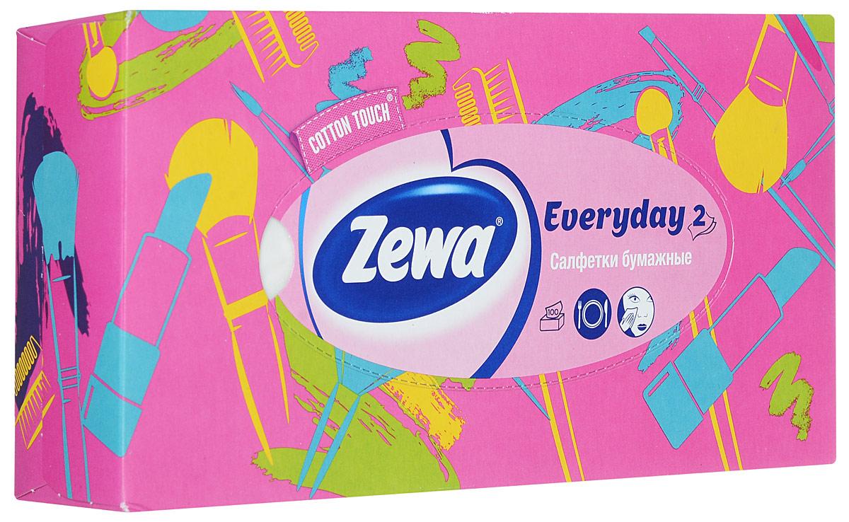 Zewa Платки косметические в коробке Everyday, 100 шт140814757_розовый,помада, кисточкаZewa Платки косметические в коробке Everyday, 100 шт