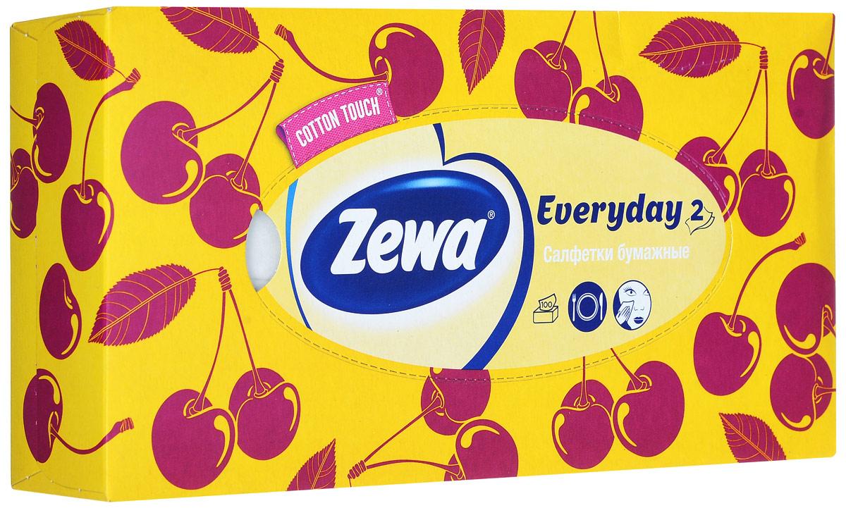 Zewa Платки косметические в коробке Everyday, 100 шт140814757_жёлтый, вишняZewa Платки косметические в коробке Everyday, 100 шт